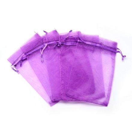 Paarse organza zakjes 12cm groot sieraden maken verpakking