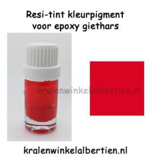 Rode kleurstoffen voor epoxy hars resin art sieraden zelf maken