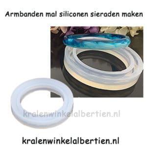Zelf armband maken silicone mallen epoxy giethars resin art