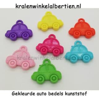 Auto bedeltje gekleurd acryl kleurenmix