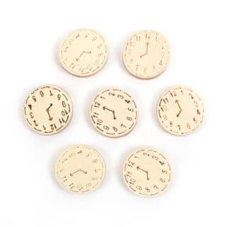 Blanke houten kraal rond 23mm horloge