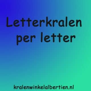 Alfabet kralen per letter