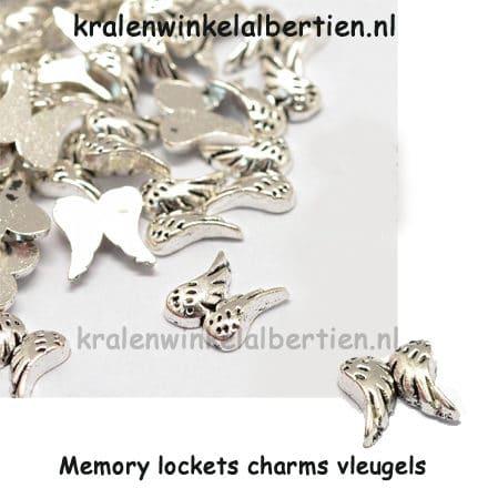 Charm vleugeltje zilver cabochons sieraden maken