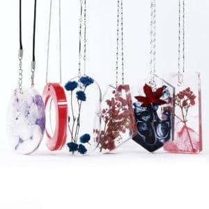 Resin art sieraden ketting maken epoxy giethars mal silicone