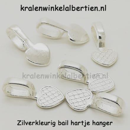 Bails resin art sieraden maken zilver hartje