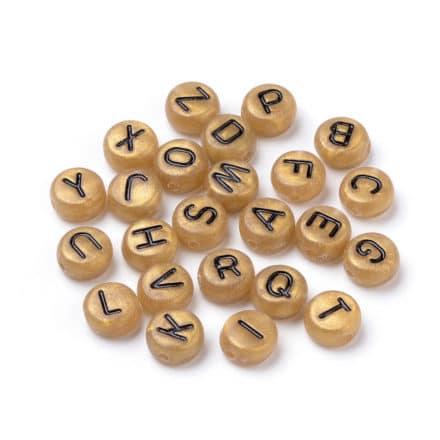 Letterkralen goudkleurig per letter te bestellen