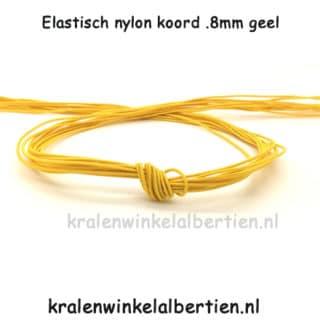 Sieraden elastiek koord nylon 0.8mm geel armbandjes maken