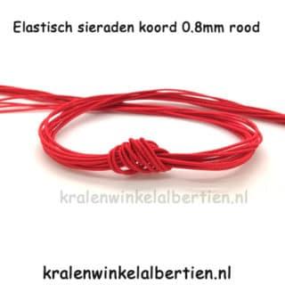 Sieraden elastiek rook 0.8mm dik nylon kralen rijgen