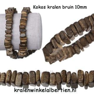 Kraal bruin kokos noot 10mm mannen armband maken