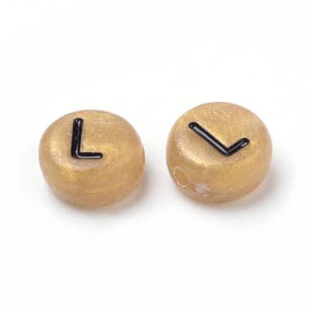 Alfabet kralen per letter L sieraden maken