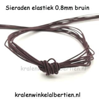 Elastisch nylon koord kralen rijgen armbandjes maken 0.8mm
