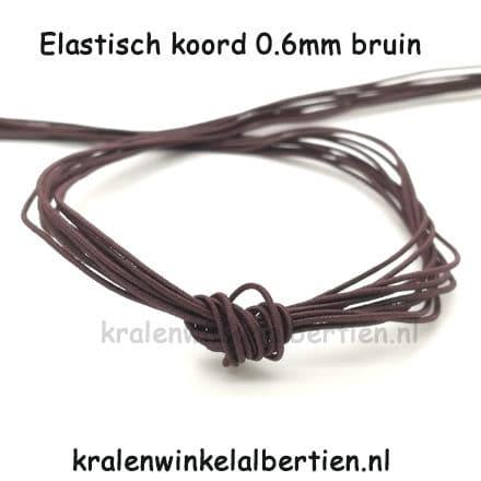 Elastisch koord 0.6mm bruin sos naam armbandjes maken
