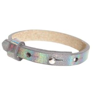 Leren armband cuoio verstelbaar holografisch naamarmbandjes maken kids