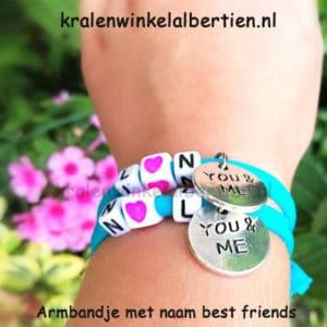 You & me armbandjes elastiek zelf maken