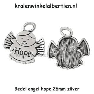 Engeltjes bedels zilverkleurig angel bedelarmbandjes maken
