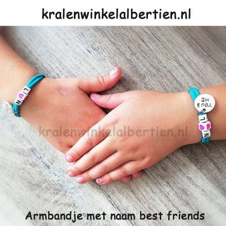 Elastiek lint armbandjes maken bff best friends
