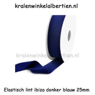Sieraden elastiek breed 2.5cm ibiza style armbandjes maken donkerblauw