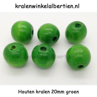 20mm kraal hout groot groen groot rijggat