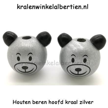 Zilveren Beren Kraal Haak Je Eigen Gelukspoppetje Kralenwinkel