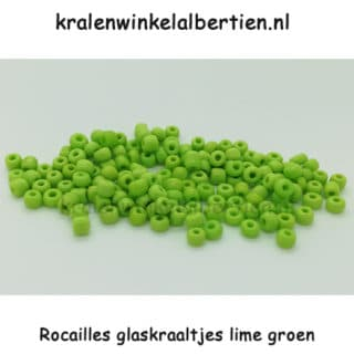 Rocaille kralen seed beads 4mm lime groen
