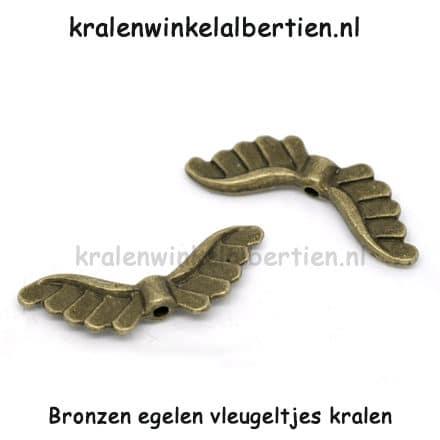 Vleugel kralen engeltjes brons gelukspoppetjes maken