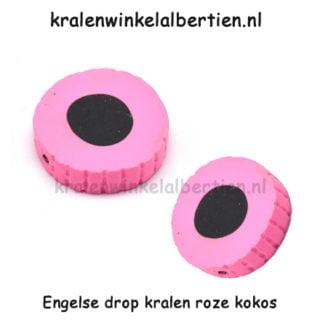 Dropjes kralen roze sleutelhangers maken traktatie
