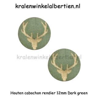 Cabohcons hout 12mm grond leger groen rendier