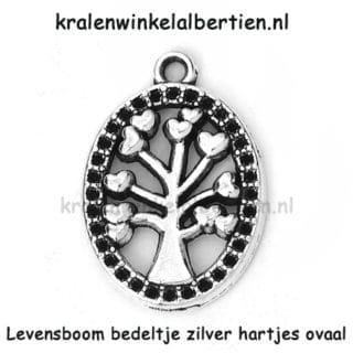 Levens boom bedels zilver ovaal hartjes sieraden maken