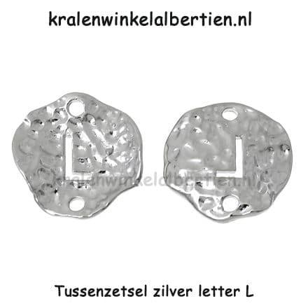 Tussenzetter armbandjes zelf maken letter L initialen naam