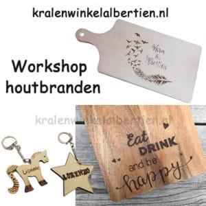 Creatieve workshop houtbranden snijplank friesland