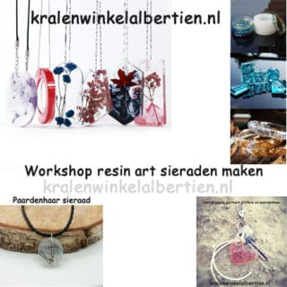 Workshops epoxy giethars sieraden maken creatief avondje uit