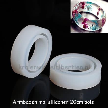 Flexibele mal armband resin art hars epoxy zelf maken DIY