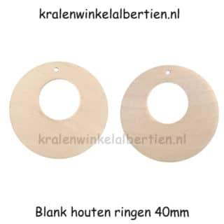 Blanke ring hout oorbel maken branden verven oorbelhaakjes
