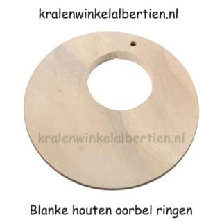 Blank hout oorbel hangers ontwerpen