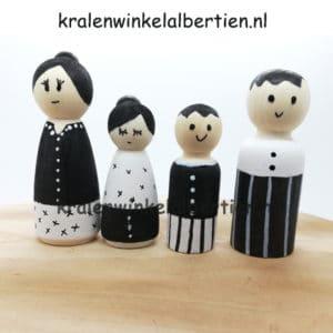kegelpoppetjes blank hout zelf verven familie maken creatieve workshops