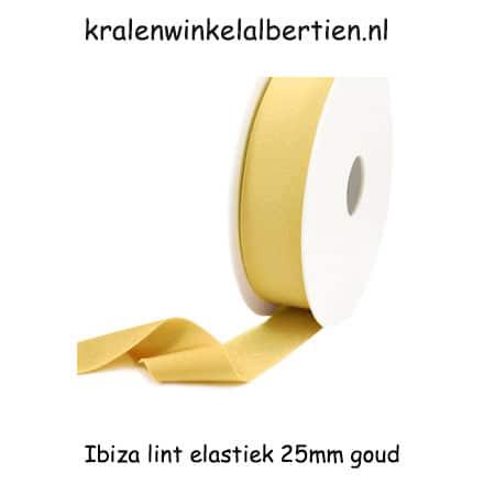 Elastisch lint goud 25mm armbandjes maken