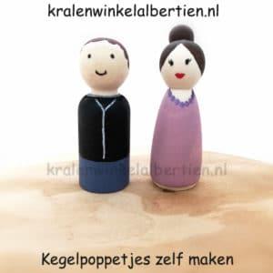 Houten poppetjes familie maken vriendinnen uitje creatieve avond friesland
