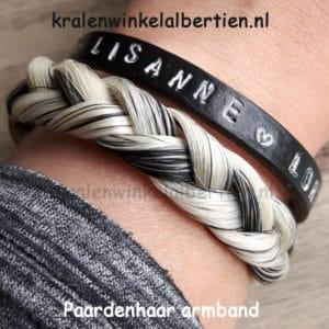 Brede armband platte vlecht eigen haar workshop cadeau