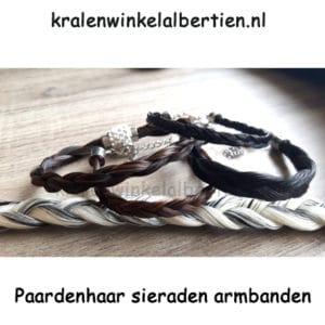 Paardenhaar armbanden haar eigen paard workshop cadeau