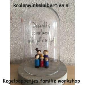 Creatieve workshops friesland houten poppetjes schilderen kralen kegelpoppetje