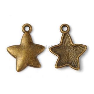 Bedeltjes sterren brons nikkelvrij armband zelf maken diy