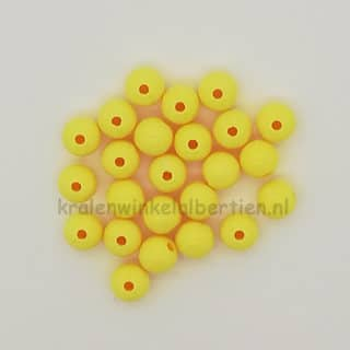 Gele kraal rond 8mm groot armbandje sleutelhangers maken acryl