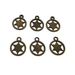Ronde sterretjes bedels metaal bronzen