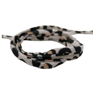 Elastisch lint rond gestikt 5mm luipaarden print trendy armbandjes zelf maken