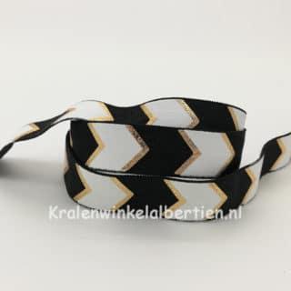 Elastisch ibiza elastiek koord zwart wit goud pijlen armbanden maken