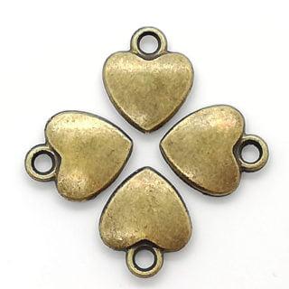Bedel hartje brons armbandjes maken sieraden