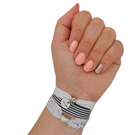 Armbanden zelf maken setje zwart wit