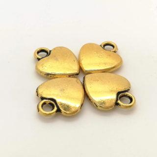 Bedel hartje goud zelf sieraden maken bedelarmband