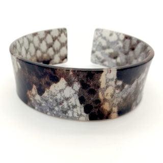 Snake dierenprint brede armband kunststof goedkoop trendy hot