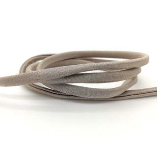 Elastiek koord 5mm rond gestikt naturel bruin armbandjes zelf maken ibiza style
